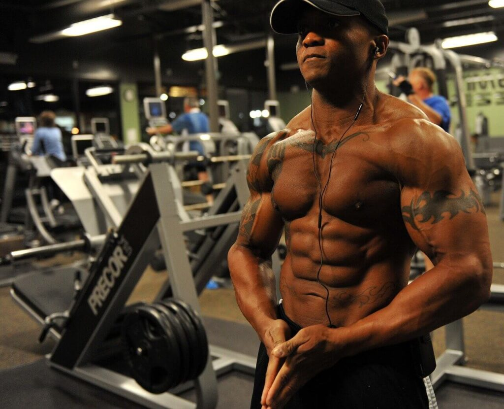 tonificación en el gym